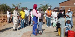 Taking the first waters from the Borehole detail image